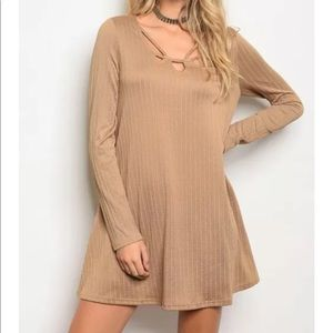 Cute Ribbed Swing Dress